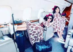 بالصور- حليمة بولند تحتفل بعيد ميلاد ابنتها على طائرة خاصة