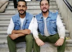 """أحمد الفيشاوي ينشر صورة مع """"قرينه"""" من كواليس """"ولاد رزق"""""""