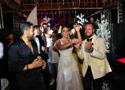 المشاهير في حفل زفاف ابن ماجد المصري