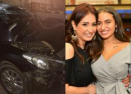 خاص- صور وتفاصيل حادث تحطم سيارة  ابنة أمل رزق