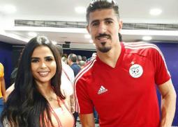 صورة- فرح علي مع بغداد بو نجاح قبل مباراة الجزائر وكوت ديفوار