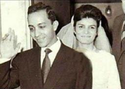 صورة- ظهور نادر لإنعام سالوسة بصحبة زوجها المخرج سمير العصفوري