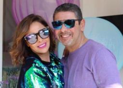 بالصور- رومانسية داليا البحيري مع زوجها