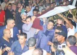 على هامش جنازة فاروق الفيشاوي