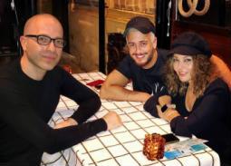 صورة- سميرة سعيد مع سعد لمجرد على العشاء في باريس