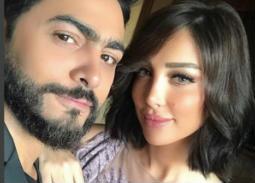 فيديو - بسمة بوسيل زوجة تامر حسني تعود للغناء بعد توقف عدة أعوام
