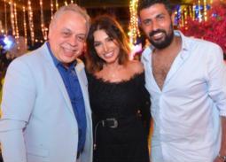 صورة- هكذا احتفلت روجينا بعيد ميلاد محمد سامي
