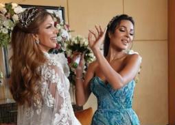 #شرطة_الموضة: نادين نسيب نجيم بفستان فخم في زفاف صديقتها