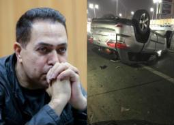 بالصور- حكيم يتعرض لحادث سير
