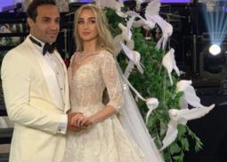 الصور الأولى من حفل زفاف أحمد فهمي وهنا الزاهد