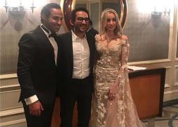 صورة- أحمد حلمي يؤكد على انتهاء خلافاته مع أحمد فهمي بحضور حفل زفافه