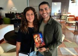 مينا مسعود يكشف كواليس لقائه بحفيدة عادل إمام