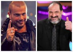 """فيديو- من حفل عمرو دياب... خالد الصاوي يغني """"قمرين"""""""