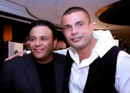 فيديو نادر- عمرو دياب في حفل زفاف محمد فؤاد
