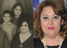 صورة نادرة لنهال عنبر في طفولتها مع والديها وأشقائها