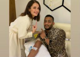 صورة- محمد رمضان في زيارة لعيادة شام الذهبي للتجميل