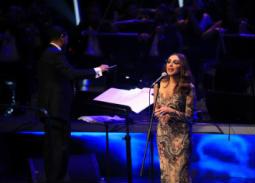 بالصور- أنغام تمتع جمهورها في سادس ليالي مهرجان الموسيقى العربية