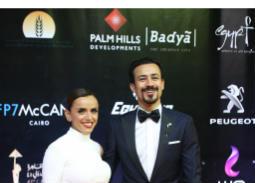 صور الثنائيات على السجادة الحمراء لمهرجان القاهرة السينمائي