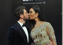 حسام الجندي وزوجته في ختام مهرجان القاهرة السينمائي 41