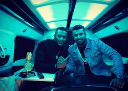 """صورة- تحضيرات محمد رمضان ومحمد سامي لمسلسل """"البرنس"""""""