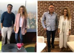 محمد حفظي ومحمد عادل ضيفا شيرين حمدي في ON Set