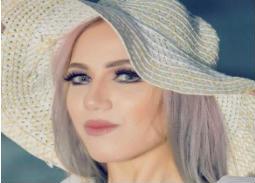 """صورة- إيمي طلعت زكريا في كواليس """"الزهر لما يلعب"""""""