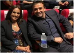 صور- هند صبري تعبر عن سعادتها للتكريم مع كريم عبد العزيز
