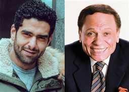 """صور- عادل إمام ومحمد كيلاني في كواليس """"فلانتينو""""... """"مفيش لقب يديك حقك"""""""