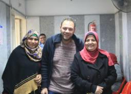 صور- محمد علي رزق يزور مستشفى الثدي بمعهد القومي للأورام 777
