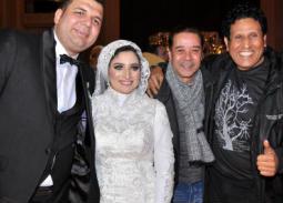 أحمد جوهر ومدحت صالح برفقة العروسين