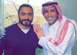 فايز المالكي وتامر حسني