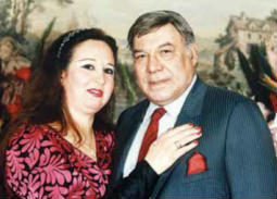 فريد شوقي وزوجته سهير ترك