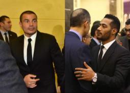 نجوم الفن والرياضة والإعلام في عزاء مبارك