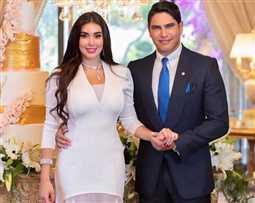 تعرف على سعر فستان ياسمين صبري في عقد قرانها من أحمد أبو هشيمة