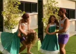 شاهد- رقص ابنة نانسي عجرم في عيد ميلادها