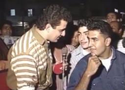 """فيديو نادر-  خالد سرحان في شبابه في برنامج """"كلام من دهب"""""""