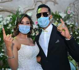شقيقة محمد رمضان تنشر صور جديدة من زفافها وتوجه رسالة رومانسية لزوجها