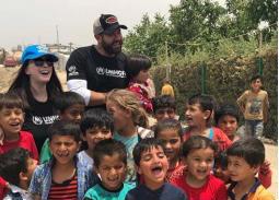 كندة علوش تحتفل بيوم اللاجئين