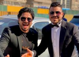 بالصور- مصطفى حجاج يحتفل بزفاف شقيقه