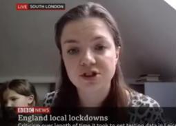 فيديو- طفلة تفسد مقابلة والدتها على bbc
