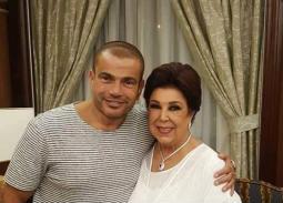 عمرو دياب ورجاء الجداوي