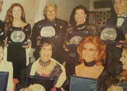 صورة نادرة- صوفيا لورين مع نور الشريف وميرفت أمين