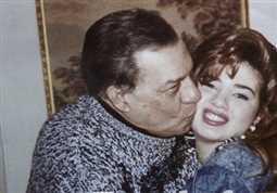 رانيا فريد شوقي ووالدها