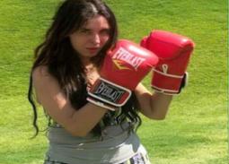 بالصور- تدريبات دينا القتالية