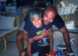 محمود العسيلي وابنه