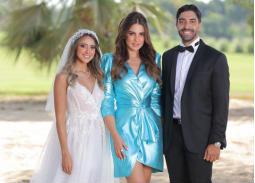 الصور الأولى من حفل زفاف هند عبد الحليم
