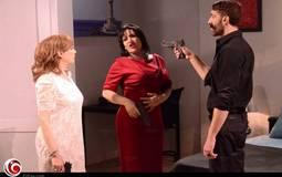 """شيرين مع أكرم الشرقاوي وبدرية طلبة في فقرة """"العشق في الممنوع"""""""