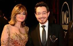 أحمد زاهر وزوجته  حفل دير جيست