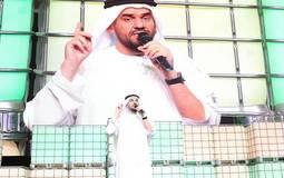 حسين الجسمي أثنا حفل سناب شات