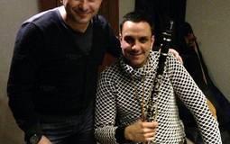 بالصور: أحمد عادل يحضر لأغنية جديدة مع المنشد مصطفى عاطف